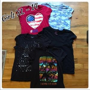Girls T-shirt Lot x5 nearly like new